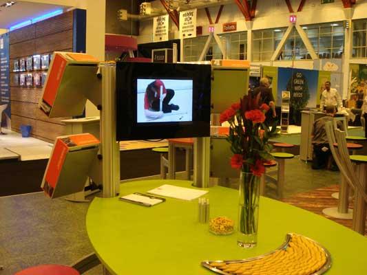 Display LCD Publicitario usado en exposiciones