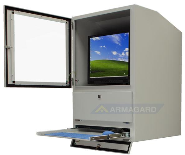 Mueble para ordenador protecci n ip54 para ordenadores for Mueble de pared industrial